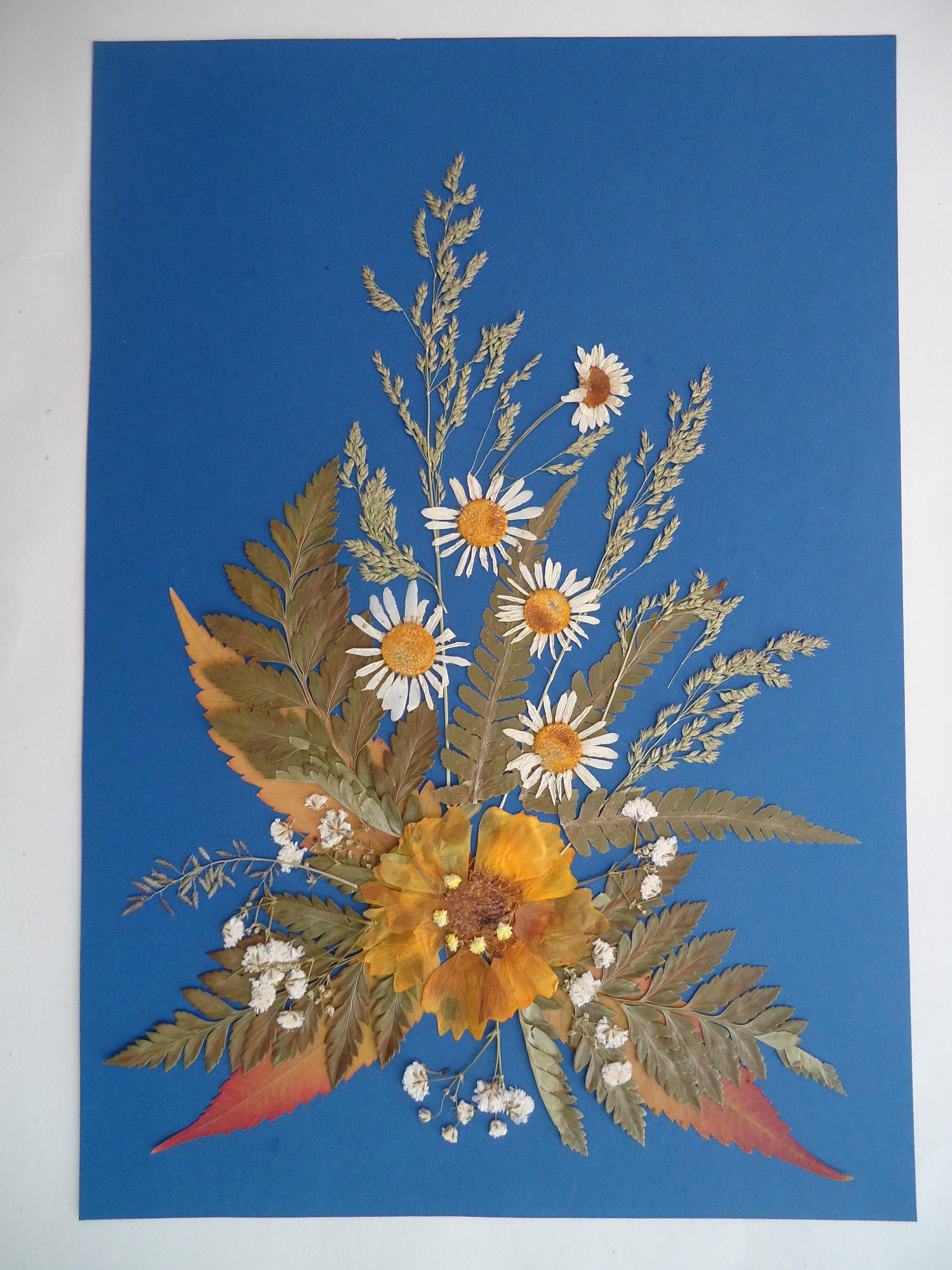Открытка плоскостная флористическая, лет